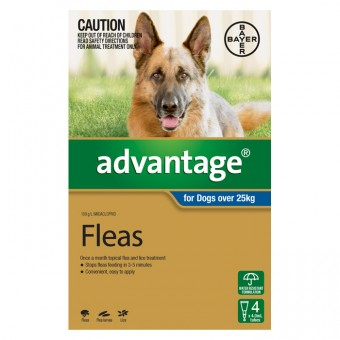 ADVANTAGE EXTRA LARGE DOG (BLUE) 4PK